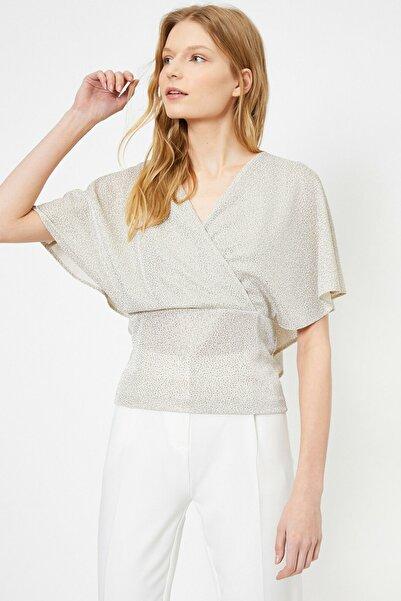 Koton Kadın Açık Gri Desenli Bluz