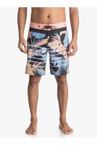 Quiksilver Yaprak Desenli Erkek Deniz Şortu Eqybs03897