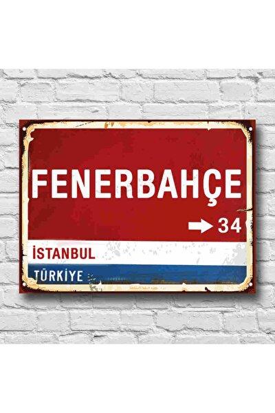 RETRO TABLO Fenerbahçe Yön Tabelası Retro Tablo