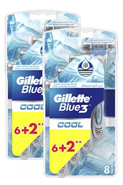 Gillette Blue3 Cool Kullan At Tıraş Bıçağı 8'li x 2 Adet