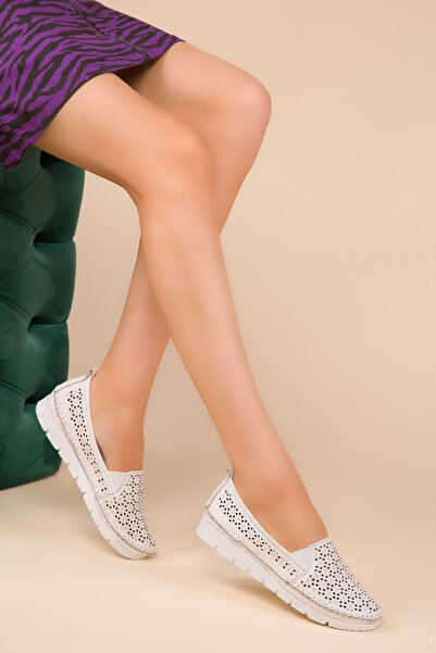 SOHO Beyaz Kadın Casual Ayakkabı 15024