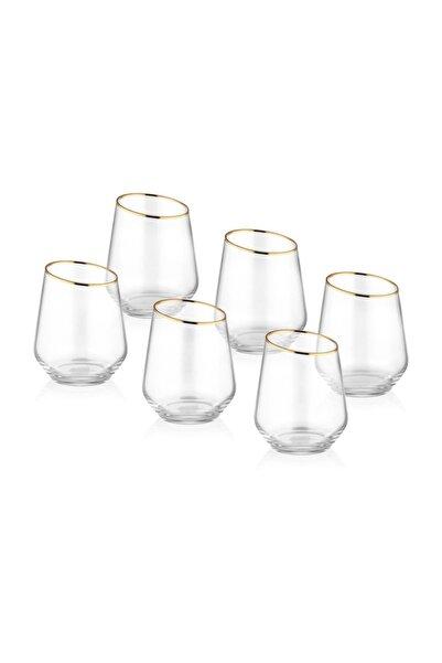 The Mia Gina Su Bardağı Kısa 6 Lı Set - Gold