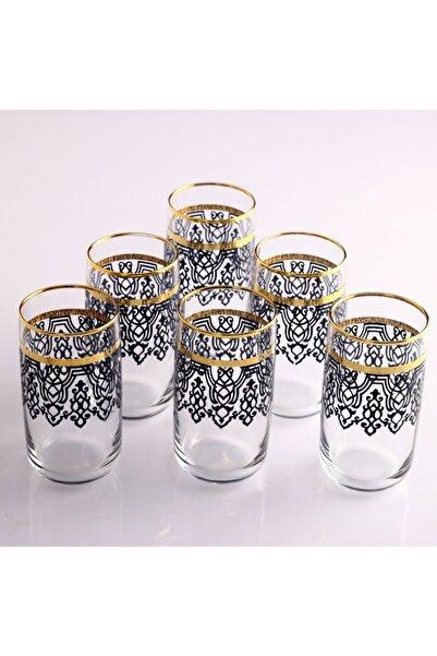 Kristal Ilayda Altın Yaldızlı Dekorlu Paşabahçe Meşrubat Bardağı 6lı