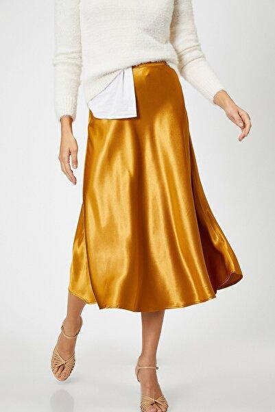 Koton Kadın Sarı Normal Bel Etek 0KAK72480UW