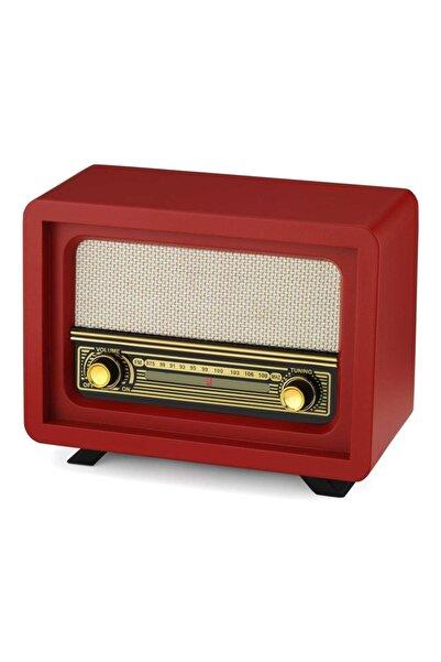 UTC Nostaljik Ahşap Radyo Beyoğlu Kırmızı Adaptör