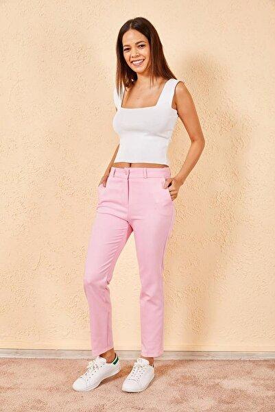 Zafoni Kadın Açık Pembe Pantolon