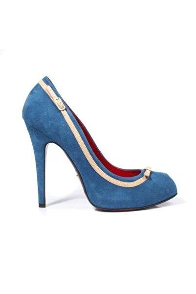 Cesare Paciotti Kadın Topuklu Ayakkabı Mavi 127210