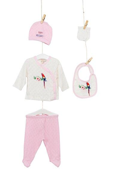 Kız Bebek Hastane Çıkışı 5li Zıbın Seti Set 5219