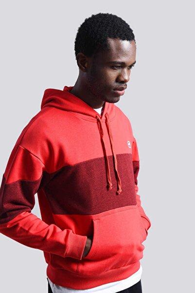 ECKO UNLTD Erkek Kırmızı Erkek Nakışlı Kapüşonlu Sweatshirt LOWA HOODIE