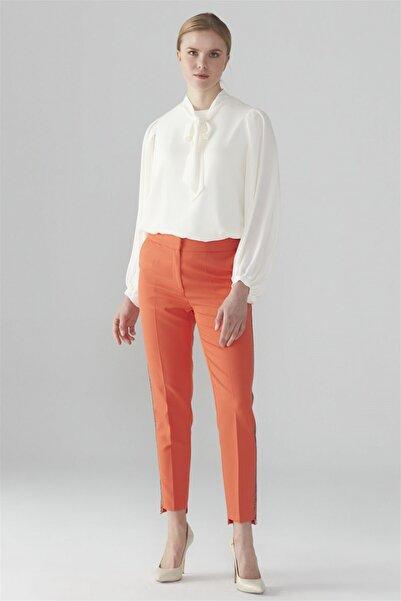 Zühre Kadın Şerit Detaylı Pantolon Oranj P-0038