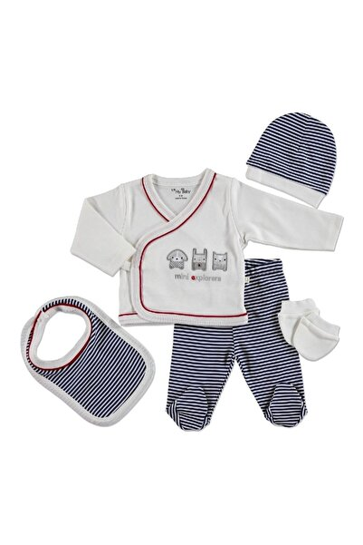 9937 Mini Pamuklu Erkek Bebek 5'li Hastane Çıkışı