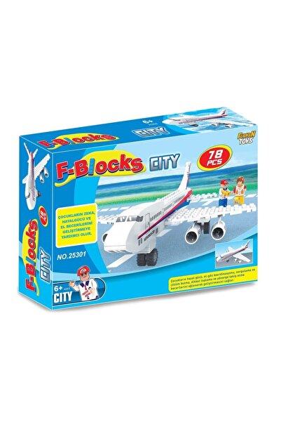 Furkan Toys F Blocks City Seti 78 Parça Lego Uçak