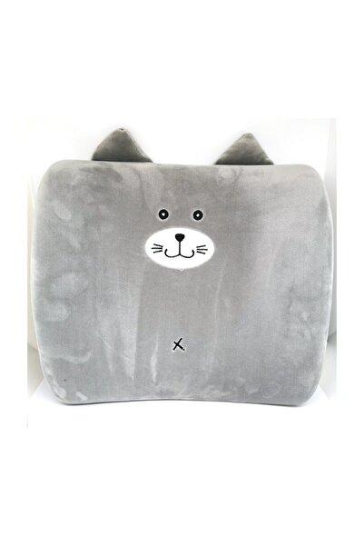 YOYOSO Sevimli Kedi Sırt Yastığı Gri