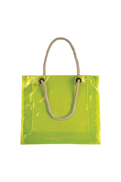 Funny Design Fun Bag Transparent Neon Plaj Çantası - Halat Saplı