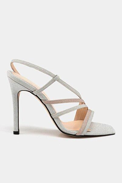 Hotiç Lame Kadın Topuklu Sandalet