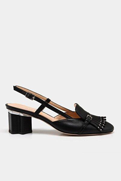 Hotiç Hakiki Deri Siyah Kadın Stiletto