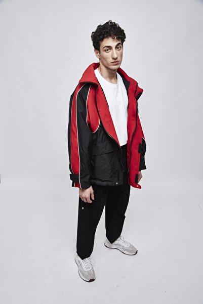 SELEN AKYÜZ Black And Red Snow Coat
