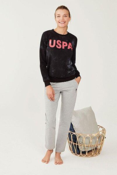 U.S. Polo Assn. Kadın Siyah Eşofman Takım