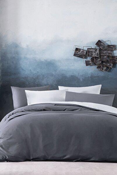 Yataş Bedding Noah Ranforce Çift Kişilik Nevresim Seti - Gri/Antrasit