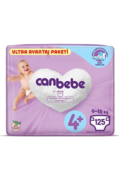 Canbebe Bebek Bezi 4+ Beden Maxiplus Ultra Avantaj Paket 125 Li