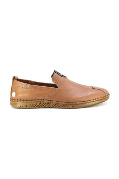 Mammamia D20ya-7670 Erkek Hakiki Deri Ayakkabı Taba