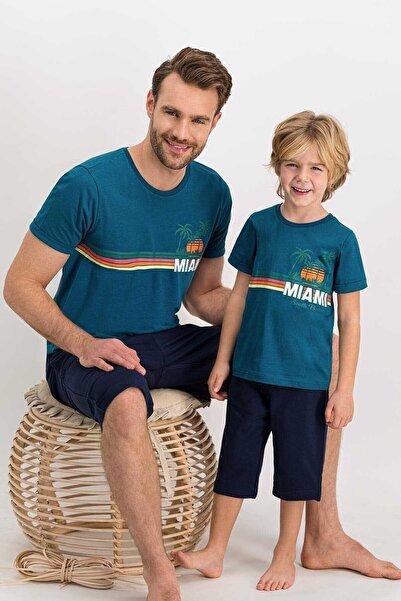 Arnetta Kısa Kol Şortlu Pijama Takım (baba Ve Oğul Olarak Kombin Yapılabilir Fiyatları Ayrı Ayrıdır)