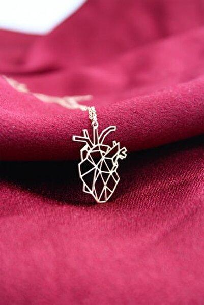 Kadın Rose Anatomik Kalp Kolye