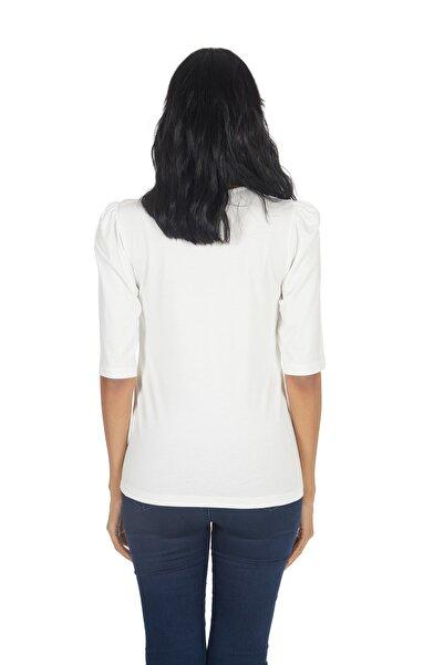 Kadın Abiye Hotfix Viskoz T-shirt-bluz