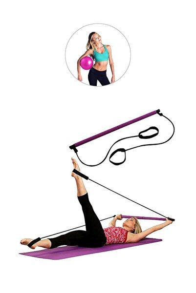 Spor Byfit Portable Studio Pilates Egzersiz Çubuğu + Pilates Denge Topu