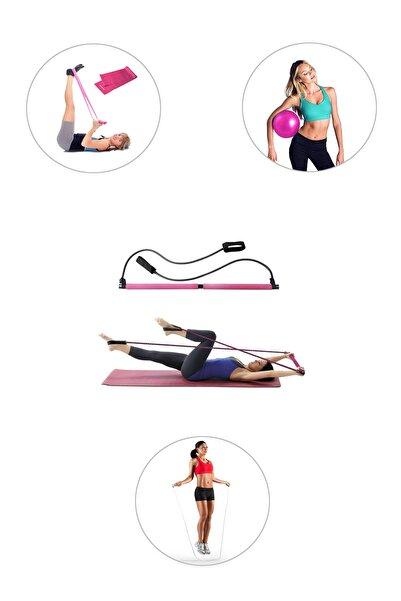 Spor Byfit Portable Studio Pilates Egzersiz Çubuğu Pilates Denge Topu Pilates Bandı Atlama İpi