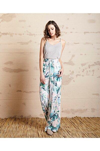 SERPİL Kadın Floral Desenli Pantolon