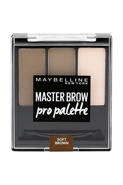 Maybelline New York 3'lü Kaş Farı - Master Brow Pro Palette 03 Soft Brown 3600531288761