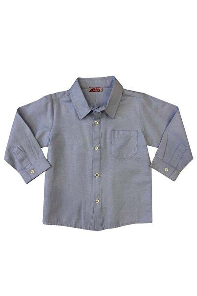Zeyland Mavı Erkek Bebek Gömlek K-62KL1583