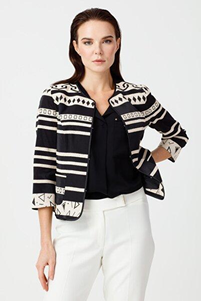 Ekol Kadın Etnik Desenli Ceket