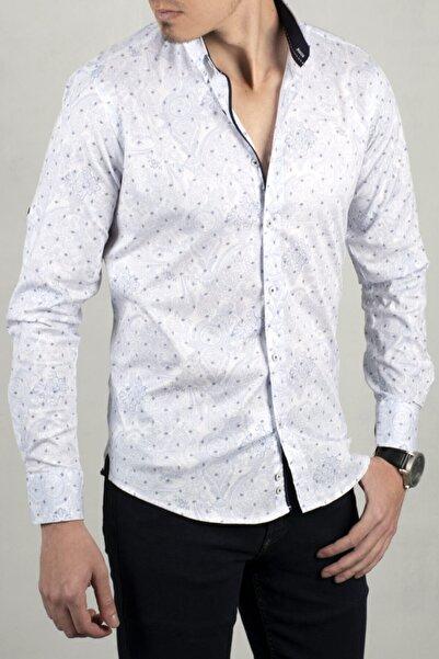 DeepSEA Beyaz-saks Uzun Kol Gömlek 2005019