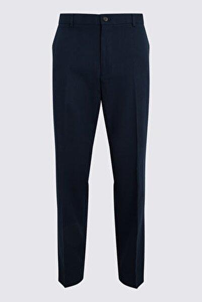 Erkek Lacivert Keten Pantolon T15005162I