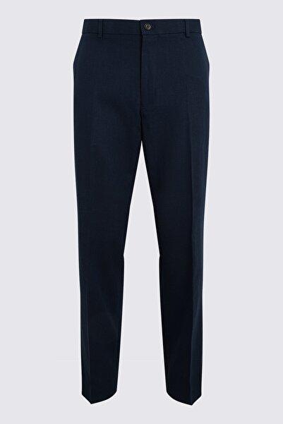 Marks & Spencer Erkek Lacivert Keten Pantolon T15005162I