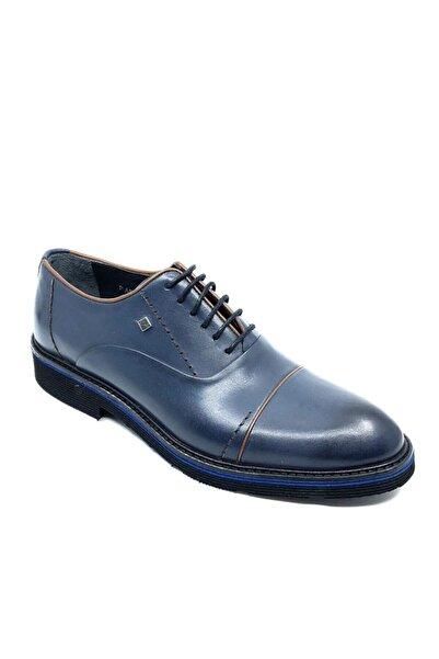 Fosco Hakiki Deri Mavi Erkek Ayakkabı 1070 158 45