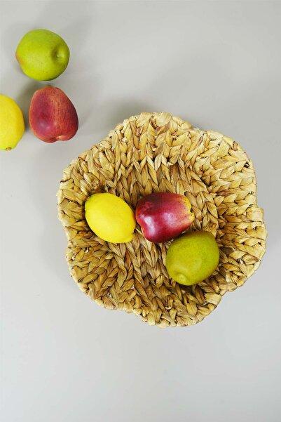 SepetçiBaba Hasır Meyve Sepeti Yuvarlak