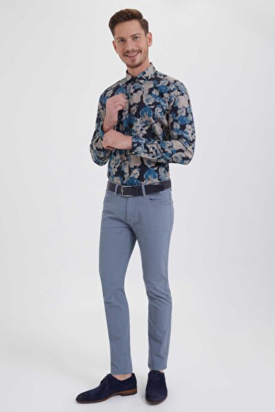 Hatemoğlu HTML Desenli Slim Fit Pantolon 29253018C005