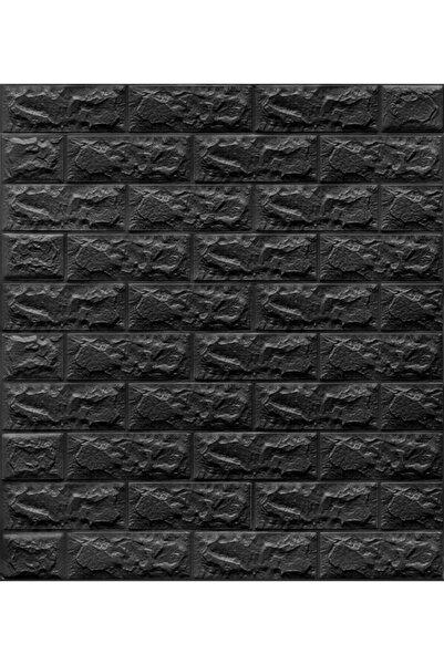 Renkli Duvarlar Nw06 Parlak Siyah Kendinden Yapışkanlı 3d Dekoratif Duvar Paneli