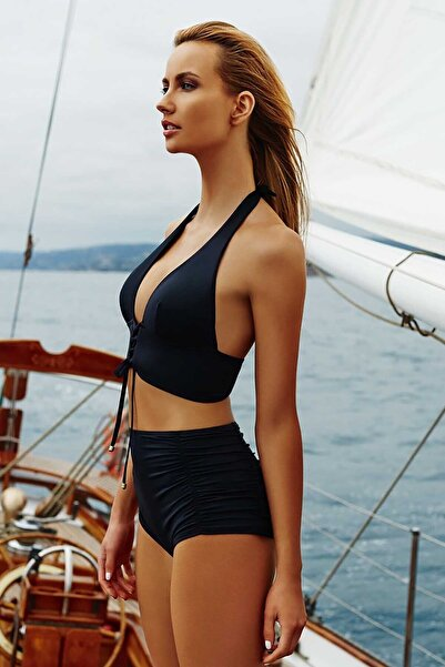 Kadın Siyah Şık Bikini  Üstü