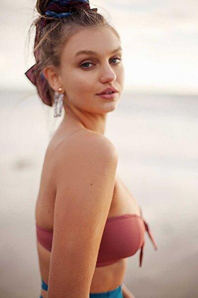 Kadın Gül Kurusu Bikini Üstü