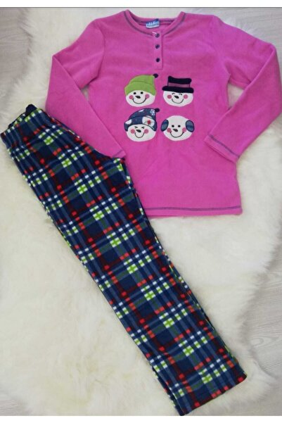 Haluk Bayram Ba Ha Polar Pijama Takımı Lila Fuşya L Beden