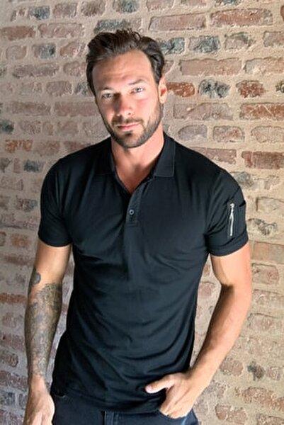 Siyah Erkek Polo Yaka T-shirt TMNSS20PO0167