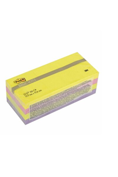 Post-it 3m Yapışkanlı Not Kağıdı 38x51mm Ufak Boy 12'li Pk Canlı Renkler 653bn