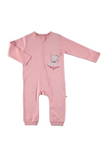 For My Baby Bebek Prenses Kedi Ribanalı Fermuarlı Tulum