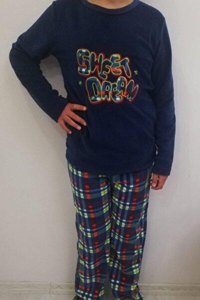 Haluk Bayram Kadın Lacivert Polar Pijama Takımı