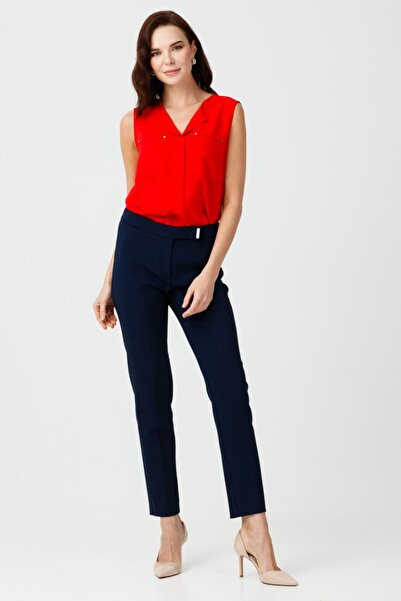 Ekol Kadın Lacivert Dar Parça Pantolon