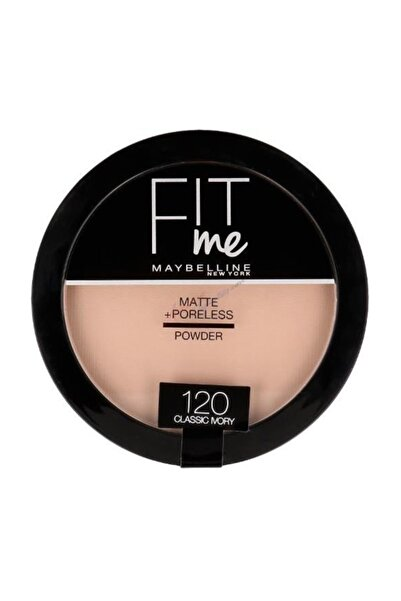 Maybelline New York Pudra - Fit Me Matte Poreless Powder 120 Classic Ivory 8992304057021